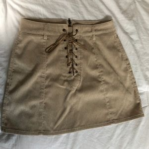 Garage - corduroy lace up mini skirt